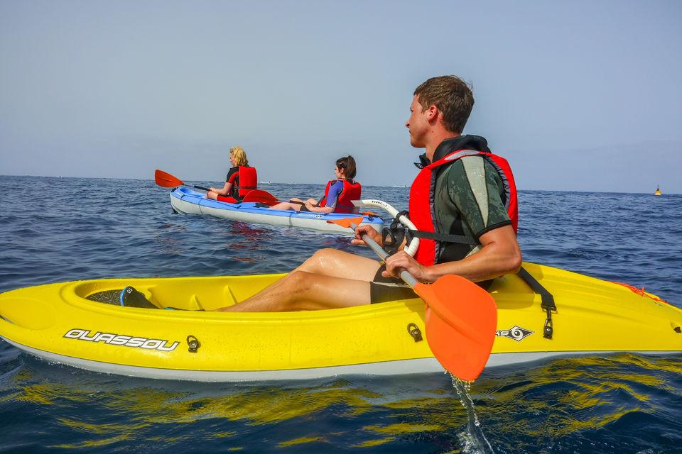 Kayak y esnórquel